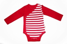 Certified Organic L/S Kimono Bodysuit - Red - OUR BRANDS (Canboli)