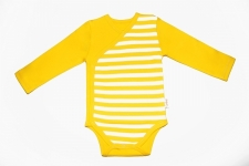 Certified Organic L/S Kimono Bodysuit - Yellow - OUR BRANDS (Canboli)