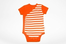 Certified Organic S/S Kimono Bodysuit - Orange - OUR BRANDS (Canboli)