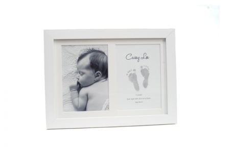 Double Frame with Inkless Printing Kit - Grey - OUR BRANDS - Baby Ink - Four Now Mum + Baby