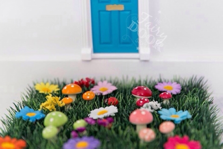 Grass Mat - With Flowers - OUR BRANDS - The Fairy Door Store - Four Now Mum + Baby