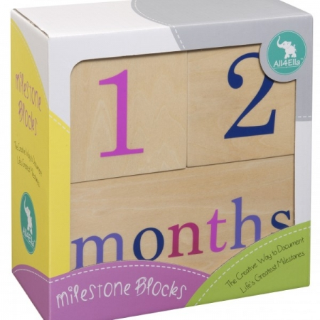 Milestone Blocks - Girl - OUR BRANDS - All4Ella - Four Now Mum + Baby