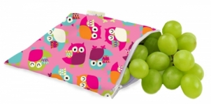 Reusable Snack Bag - Owls Pink - Feed Time<br>(Reusable Snack Bags)