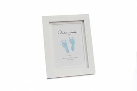 Single Frame with Inkless Printing Kit - Blue - OUR BRANDS - Baby Ink - Four Now Mum + Baby