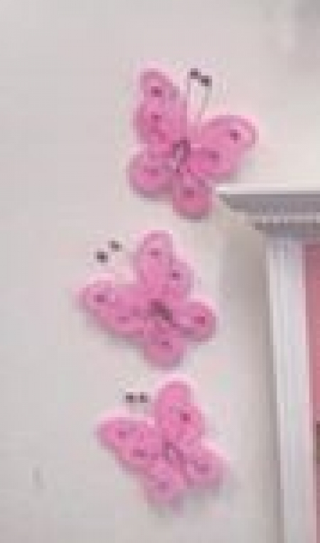 Wall Butterflies - Pink - OUR BRANDS - The Fairy Door Store - Four Now Mum + Baby